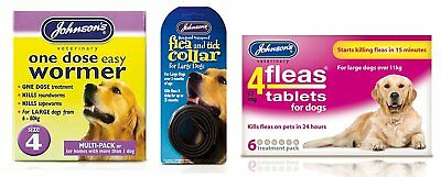 Pet Connection's Johnsons Flea, Tick & Worming Kit Size 4: Giant Dog - 40-80kg
