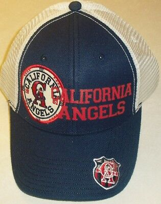7836e0209b6d0 California Angels American Needle Snapback hat (Mesh Sides   Back) Brand ...