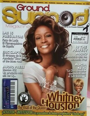 RARE WHITNEY HOUSTON 2012 MEXICAN Magazine GROUND SUPPORT