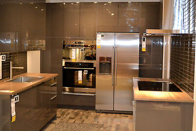 Ringhult High Gloss Grey Ikea Kitchen Cabinet Doors And Side Panel 50 00 Picclick
