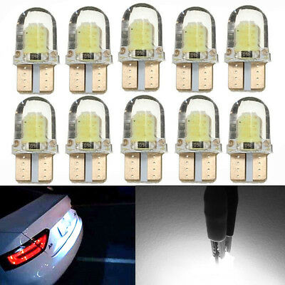 10X T10 194 168 W5W COB 4-SMD SILICA Super Bright LED light Bulb White 12V 6500K