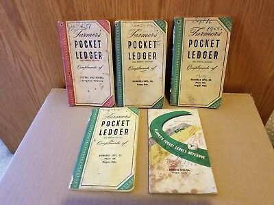 5 Farmers Pocket Ledger Books John Deere 84,87,89,90,94 Editions
