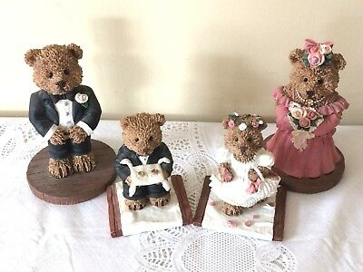 WINDSOR BEARS of CRANBERRY COMMONS COLLECTIBLE Bridesmd,BestMan,RingB,FlowerGirl