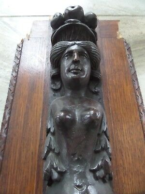 16Th Century Carved Oak Female Caryatid