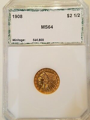 1908 $2 1/2 Gold Indian Head