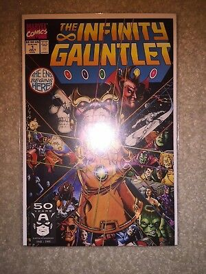 Infinity Gauntlet #1 (1991) 1st Print NM Avengers War (Thanos 13)