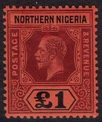 Northern Nigeria 1912 Kgv 1 Pound Top Value