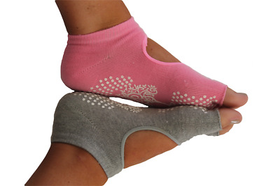 Yoga Pilates Socks, Free Shipping Within Australia - Choice Of Pink Or Grey