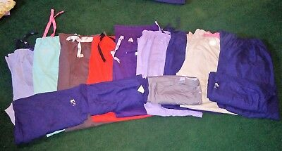 Lot of SCRUBS ~ Size XL ~~~ LANDAU, COUTURE, SB ~ EUC 4 Tops ~ 9 Bottoms