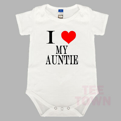 I Love My Auntie. Funny. BabyGrow. Baby Romper. Cute Baby Suit.