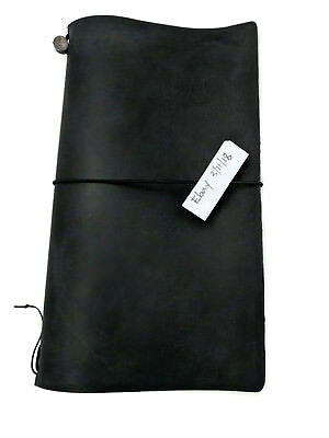 Midori Travelers Notebook Black Leather Cover Authentic, Used, Regular Size