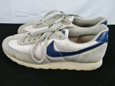 Vintage 80's 1987 Nike Oceania II Running Shoes Sneakers Men's Size 11 Gray Navy