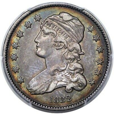 1832 Bust Quarter PCGS XF-45 CAC Ex. Reiver – Marx, Great Color!!
