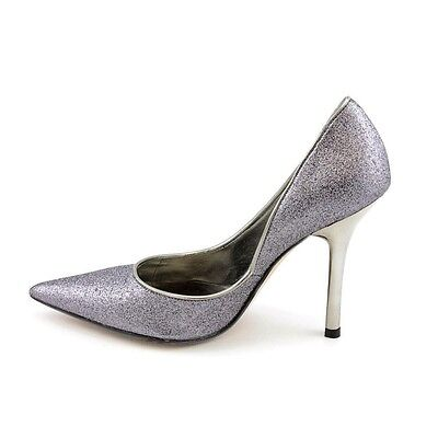 New Authentic Guess Pumps By Marciano Carrie Pewter Glitter Leather Size 9