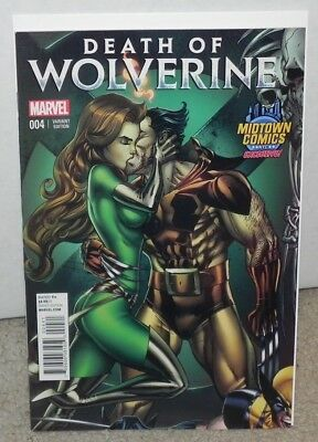 Death Of Wolverine #4 Midtown Exclusive J Scott Campbell Connect Variant Cover