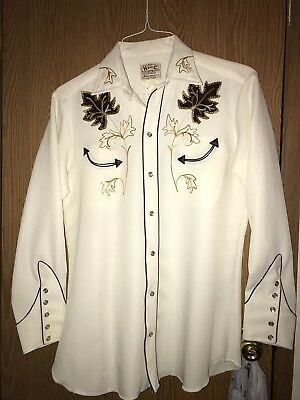 Mens Vintage Western Shirt Embroidered 16 Alan Jackson Style
