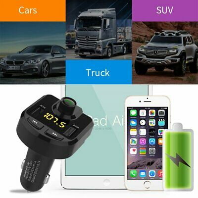 2018 Bluetooth Car Kit Wireless FM Transmitter Dual USB Charger Audio MP3 Player