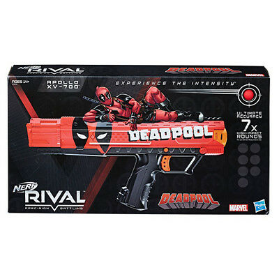 NEW Deadpool Nerf Rival Apollo XV-700 Blaster - 7 Dart balls