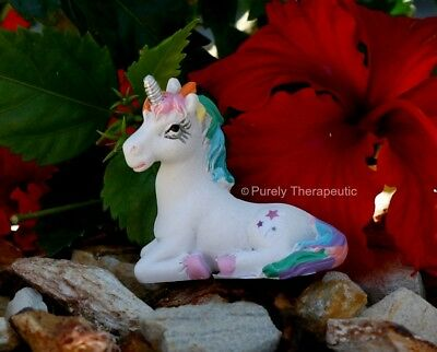 UNICORN FIGURINE MAGICAL 5cm LYING ON RIGHT SIDE Mythical Magic Horse Miniature