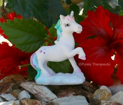 UNICORN FIGURINE MAGICAL 5cm STANDING WITH HOOF UP Mythical Magic Horse Mini