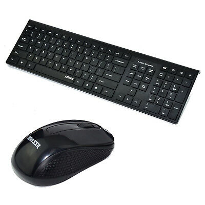 Wireless Keyboard and Cordless Optical Mouse for PC Laptop Win7/8/10 Slim New