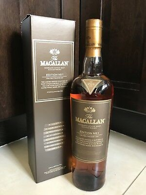 Macallan Edition No.1 Discontinued Collectors Item