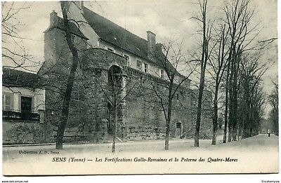 CPA -Carte postale-France -Sens - Les Fortifications Gallo-Romaine et la Poterne