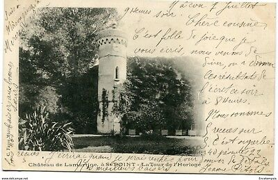 CPA-Carte postale-France-Château de Lamartine-Saint Point - La Tour de l'Horloge