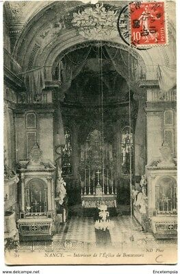 CPA-Carte postale-France- Nancy - Intérieur de l'Eglise de Bonsecours - 1908