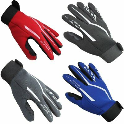 Fashion Mens Full Finger Sport Gloves Exercise Gym Workout Gloves Black