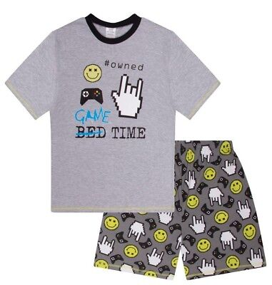 Boys  Game Time Owned SHORT Pyjamas 9 to 15 Years AOP