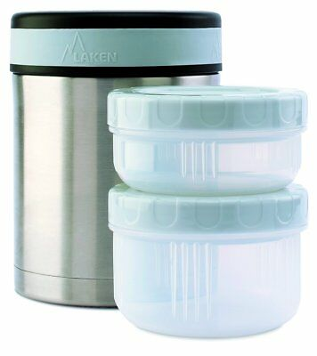 Laken Thermo Insulated Stainless Steel Vacuum Food Jar Container w/Cover and ...