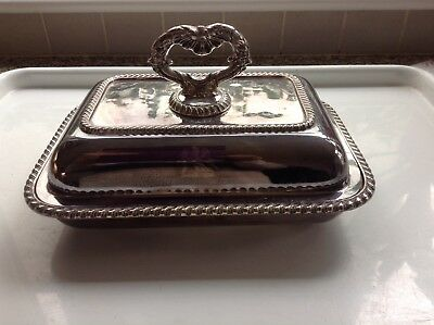 Silver Plated On Brass Tureen Dish