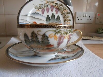 Japanese porcelain trio (plate, cup & saucer)