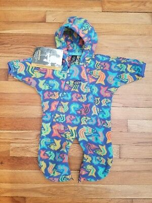 Patagonia Infant Lightweight Synchilla Fleece One Piece Bunting Medium 12-16 LBS