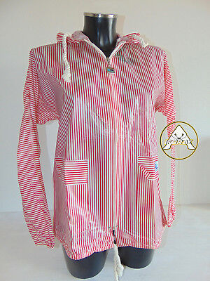 Vintage 80 RENCO MARWELL Giacca M Donna Jacket Rosso Vento Pioggia 90 Righe