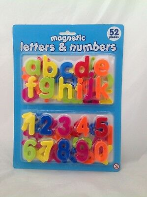 52pc Kids MAGNETIC Learning set Alphabet & Numbers Fridge Magnets Letters number