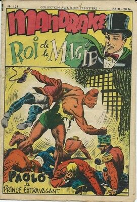Rare Eo S.a.g.e 1950 Récit Complet Mandrake N° 121 : Paolo Le Prince Extravagant