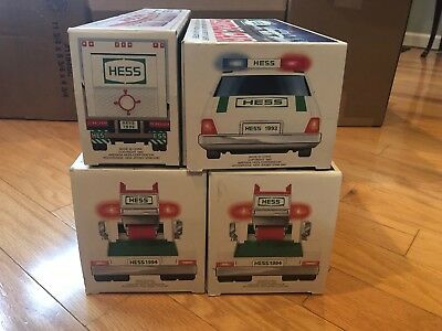 Vintage HESS Trucks With Boxes, Lot of 4, 1992,1993,1994(2)