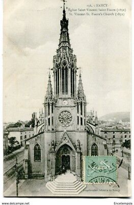 CPA-Carte postale-France -Nancy - Eglise Saint Vincent - Saint Fiacre (CP1646)