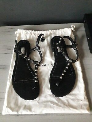 5c1743eaade BALENCIAGA ARENA STUDDED Sandals 39 8 lavender periwinkle silver ...