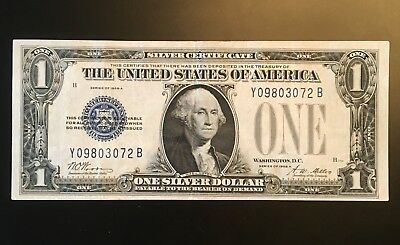 1928-A EXPERIMENTAL $1 SILVER CERTIFICATE * Y-B BLOCK *  Scarce Issue