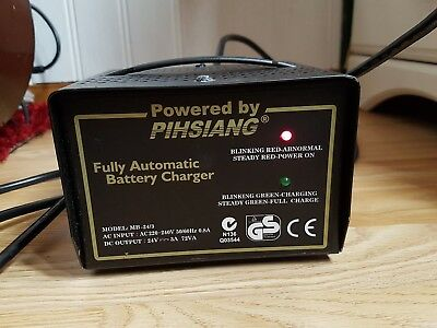 Pihsiang MB-24/3 Battery Charger for Mobility Scooters fully automatic 3A / 24V