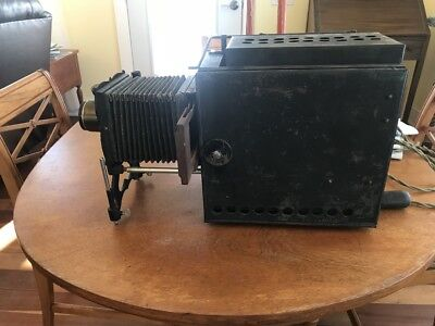 """Moore, Hubbell & Co Stereopticon """"Magic Latern"""" Projector Device"""