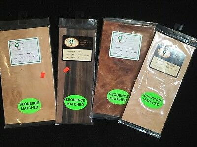 Lot Of 4 Packs Wood Veneer New Sauers & Co Maple Ebony Redwood
