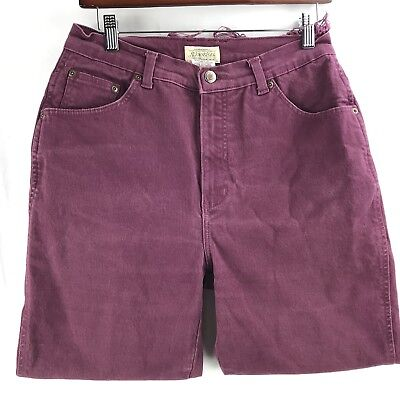 Vtg St Johns Bay Women's High Waisted Jeans Size 12P Purple Distressed Raw Hems