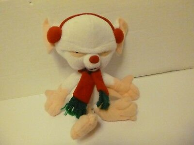 Warner Brothers Studios Bean Bag Pinky and The Brain with scarf 7""