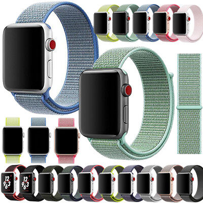 Nylon Woven Sport Loop Bracelet Watch Band Strap For Apple iWatch series 3 2 1