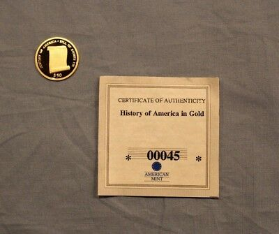 2006 History of America Bill of Rights 14K Gold Coin Proof with COA