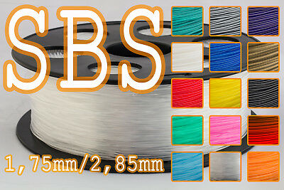 Filament SBS 1,75 mm / 2,85 mm 1Kg RepRap Ultimaker Makerbot Zortrax